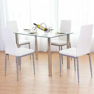 Colette Dining Room Set with Bench and Fabric Chairs
