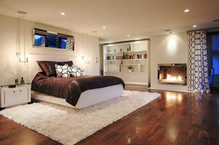Teal Bedroom Ideas Transitional Couch Seating Beige Area Rug Black Dresser  Chairs In Club S Dark Grey Headboard Upholstered Frame Hardwood Flooring  Floors