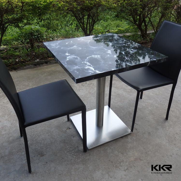 Acme Danville Marble Top Square Counter Height Dining Table in Espresso  07059 Media Gallery 2