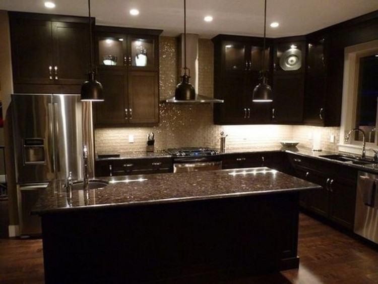 dark cabinet backsplash inspiring kitchen ideas