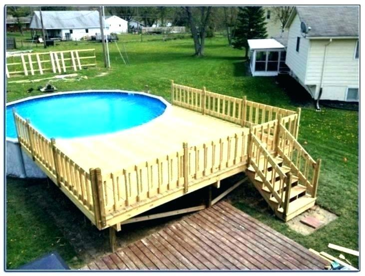 above ground pool decks awesome pools 3 above ground pool deck designs  pictures
