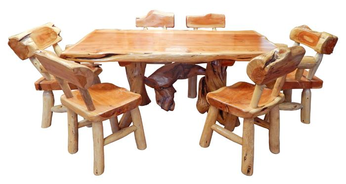 log dinning table cedar log cabin dining room tables