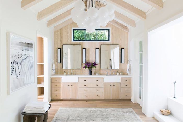 bathroom  mirror ideas with white vanity