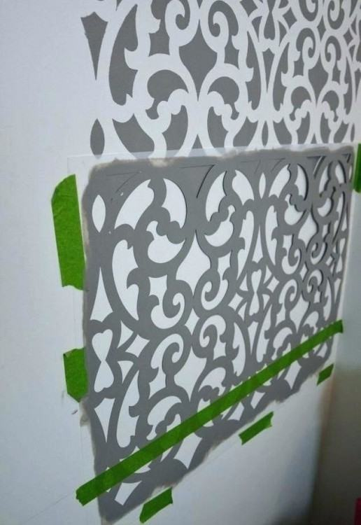 wall stencils for bathroom wall stencil ideas before after a colorful small  gray bathroom with a