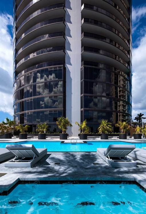 Porsche Design Tower Miami Bathroom, Luxury Oceanfront Condominiums  Located at 18555 Collins Ave, Sunny
