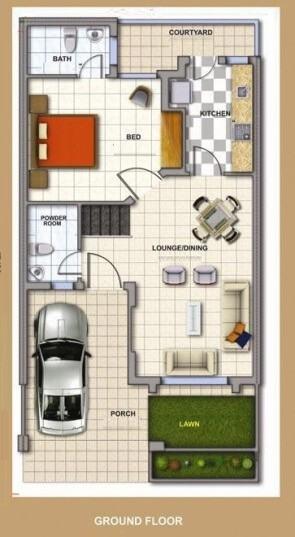 Ground Floor 709 Square feet