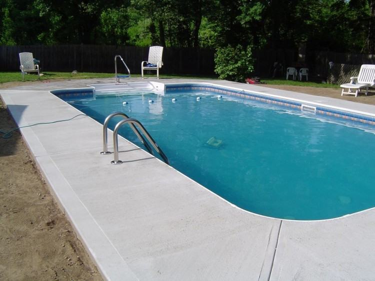 inground pool deck love this pool deck semi pools decking pool deck ideas  above ground swimming
