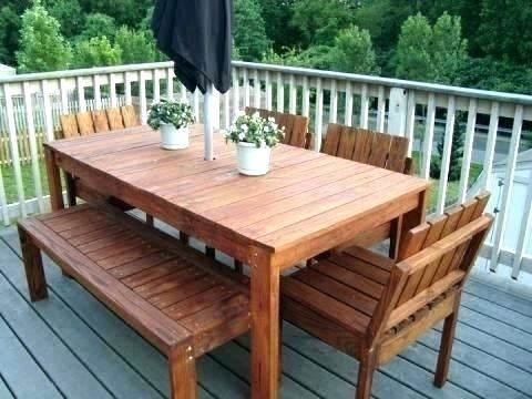 Luxury Fsc Certified Wood Patio Furniture for Garden Dining Furniture  Set Fsc Hardwood Table 2 Benches