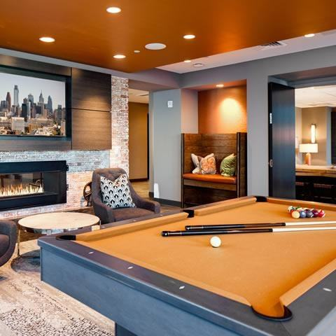 billiard  room decor