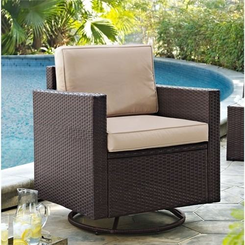 Crosley Palm Harbor 3 Piece Wicker Chat Set