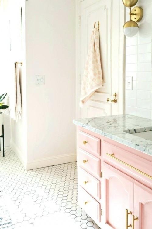 peach and gray bathroom makeover house  ideas
