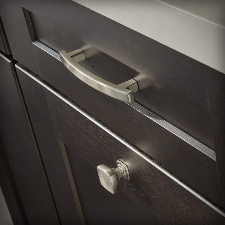 Buy World 2 home KAK Black Silver Hidden Cabinet Handles Zinc Alloy Kitchen  Cupboard Pulls Drawer Knobs Bedroom Door Furniture Handle Hardware Online  at Low