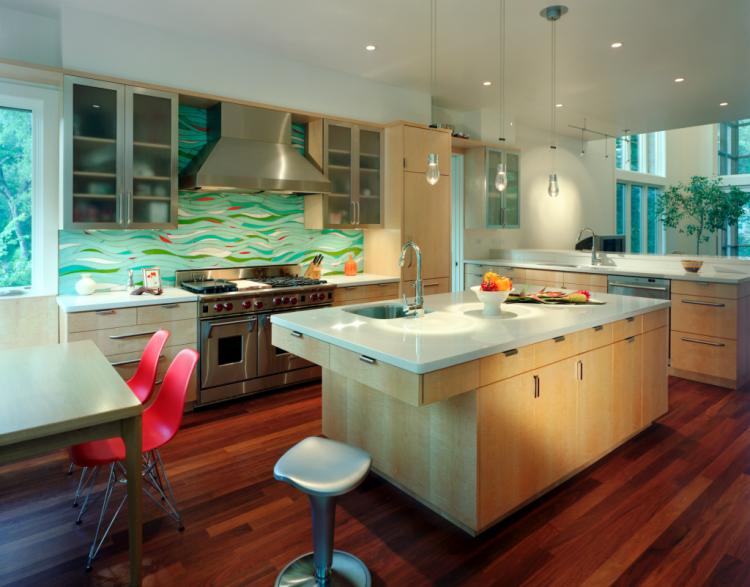 Captivating Tile Kitchen Backsplash For Kitchen Design Ideas : Comely L  Shape Kitchen Decorating Design Ideas