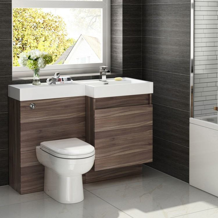 walnut  bathroom