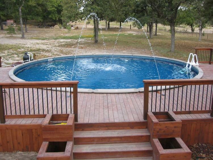 half inground pool
