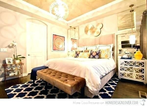 blue and gold bedroom ideas