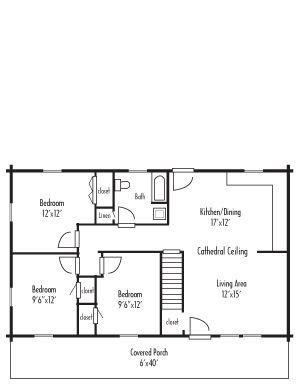 Colonial house plans generally take the form of a simple rectangle,
