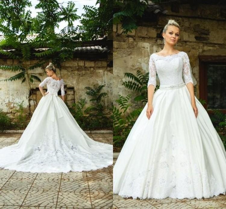 Modest A Line Wedding Dresses