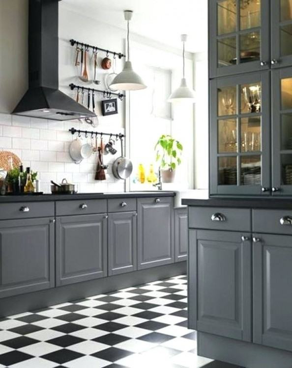 maple cabinets gray