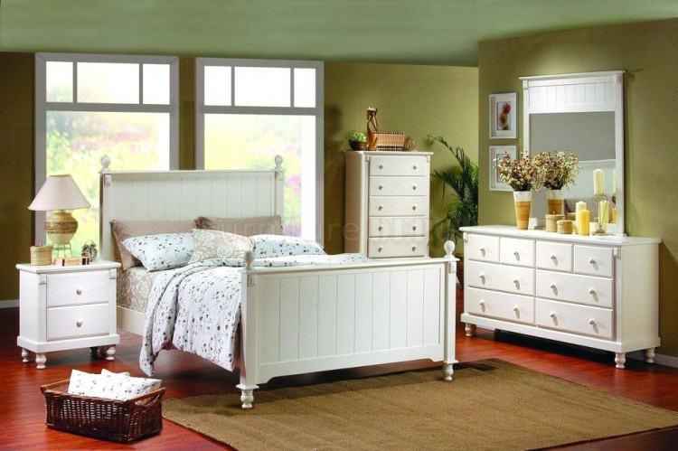 White Distressed Bedroom Furniture Wood  Bedroom Sets
