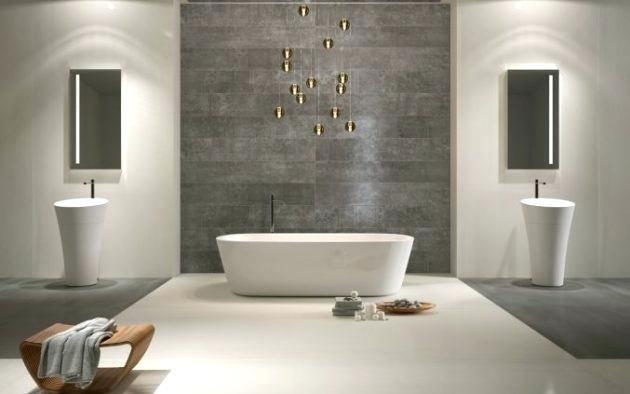stone effect bathroom wall