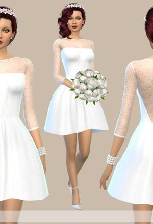 I bring you the Estrella Gowns! They're obviously made from the cute blouse  from the Jungle Adventure pack! There are as you can see two versions: with
