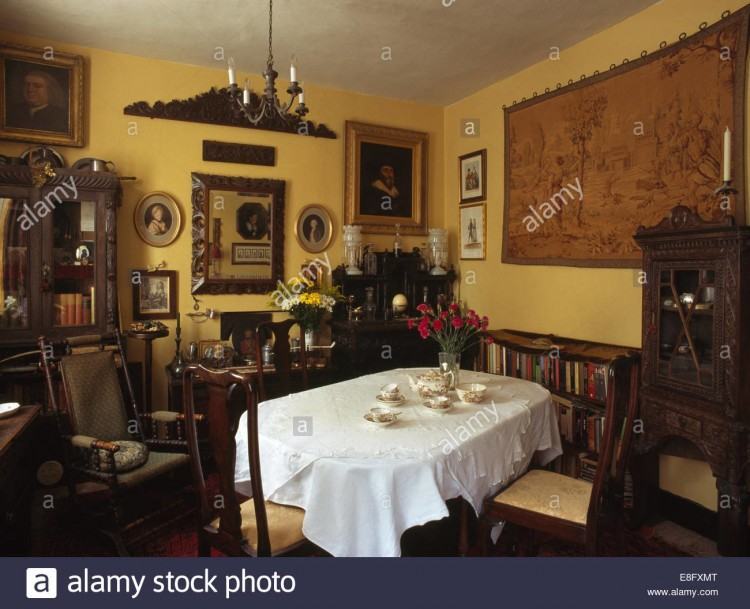 The century old living room + dining room